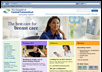 Screenshot of a Health Care web site