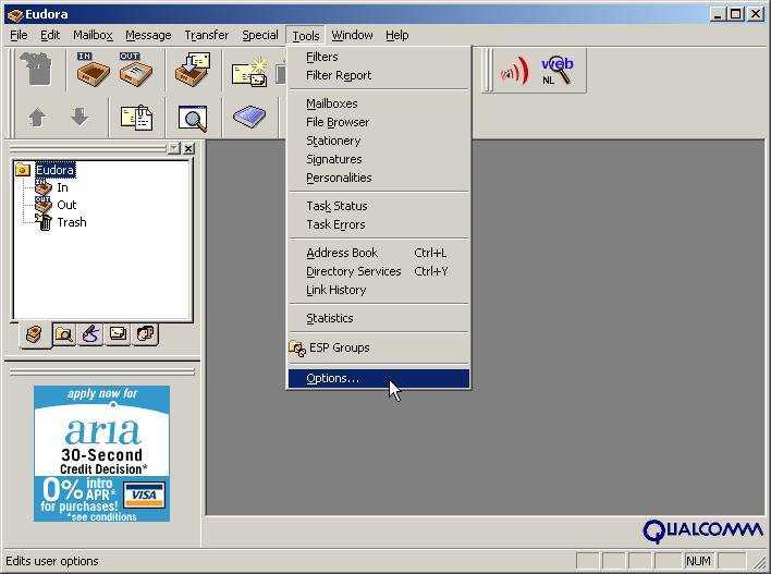 Eudora SMTP - NRG Networks Website Design Programming & Hosting